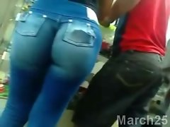 Jeans with no panties