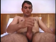 attractive turkish man cumshot