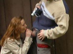 FRENCH CASTING n4 redhead bum slutty girl outdoor