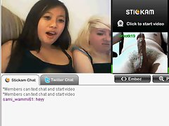 Stickam flash with 2 dolls