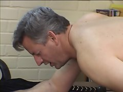 Elder stud gets butt spanked and screwed