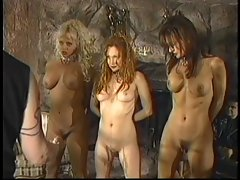 Trio of sensual BDSM slaves get spanked