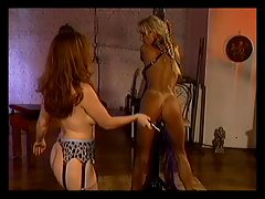 Lesbo bondage and whipping