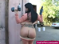 Asses In Public - Sexy Pornstars Outdoor Exposing and Fucking 22