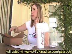 Candace tender amazing blonde babe talking eating