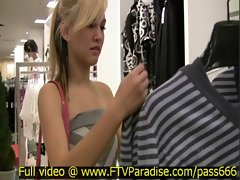 Alexa tender gorgeous blone babe in a clothes shop