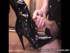 Domina demands attention for her boots