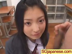 Asian In Schoolgirl Uniform Get Hard Nailed movie-30