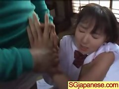 Asian In Schoolgirl Uniform Get Hard Nailed movie-08