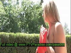 Liz amazing naked blonde babe in a garden