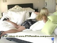 Kylee amateur blonde babe at home in bed