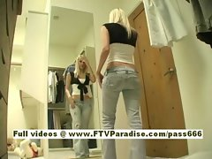 Kristina nice blonde babe change her clothes