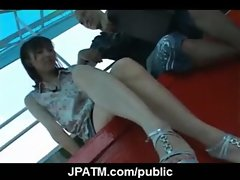 Young Japanese Teens Outdoor Exposing and Fucking 25