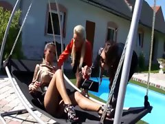 Horny lesbians getting hot with each other