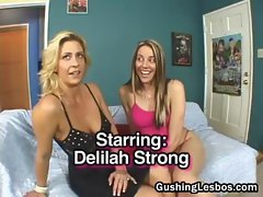 Mature with teen lesbo double fuck dildo