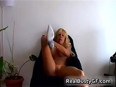 Beautilicious blonde milf with suckable
