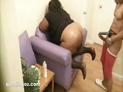 heavy load to her face