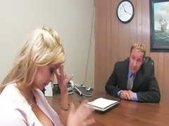 blond teacher drilled on the table