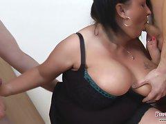 Big Tits Meow 34JJ Multiple Cock Suck