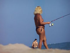 nice girl fishing
