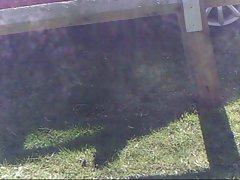Pandora&amp,#039,s upskirt big clit dildo and Dino in public