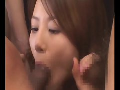 Japanese triple blowjob