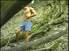 Sexy latin guys banging ass in forest