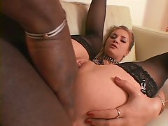 Black man fucking her tight ass