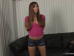 Capri Anderson Audition Clean Shaven Pussy