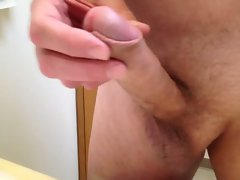 closeup pumped rockhard cock cumming