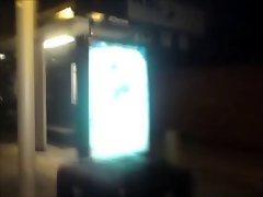 Nude in Public - Bus Stop Posing