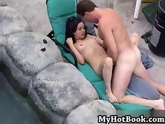 Violet Skye is pure innocents as she bends over to