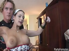 Young Babes Gets Beads By Flashing Tits