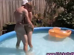 Australian real couple play outdoors