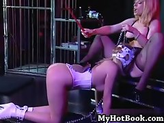 Anna Mills is a beautiful submissive blonde with