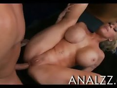 Amazing giant boobs blonde honey Candy Manson anal plowed
