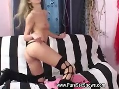 Backstage filming of a euro porn film