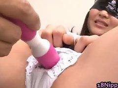 Kanna Harumi Asian schoolgirl shows off part6