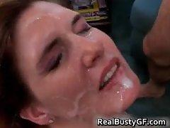 Gorgeous mom handling two raging dicks part6