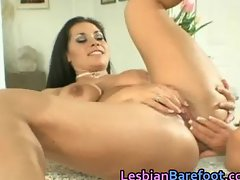 Busty Lesbians are licking and dildoing part3