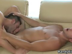 Ash and Porter fuck and suck on the sofa part6