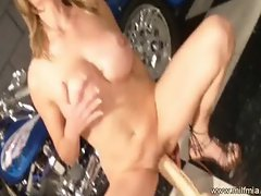 hot MILF busty big-tits big-boobs wet clit masturbate masturbatio
