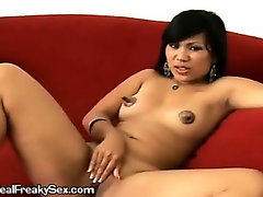 Hot Latina with huge nipples slams her tight pussy on his huge cock!!