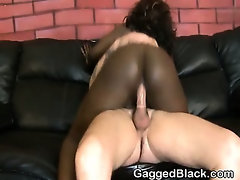 Dirty Black Ghetto Slut Double Penetrated By White Guys