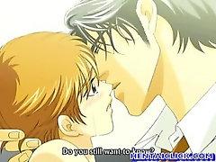 Anime gay deep fucked his friend