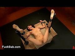 Horny threesome intese BDSM action