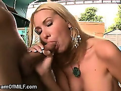 Incredibly Hot Babysitter Sucking Cock