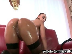 Curvaceous hottie Liza Del Sierra in fishnets anal doggied