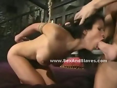 Black lady with delicious butt gets spanked by her mate in wild blowjob sex and submission video