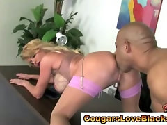 Open pussied cougar fucked